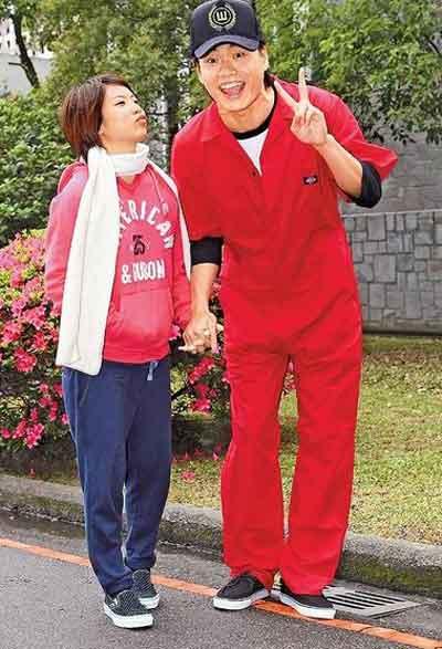 黄镫辉与老婆的生活照