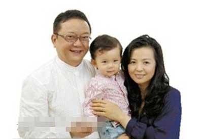 王刚与现任老婆郑艳东和五岁儿子的家庭写真照-王刚与三任老婆的相图片
